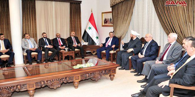 המופתי חסון למשלחת פרלמנטרית ירדנית: מלחמת הטרור נגד סוריה נועדה להניא אותה מעמדותיה העקרוניות