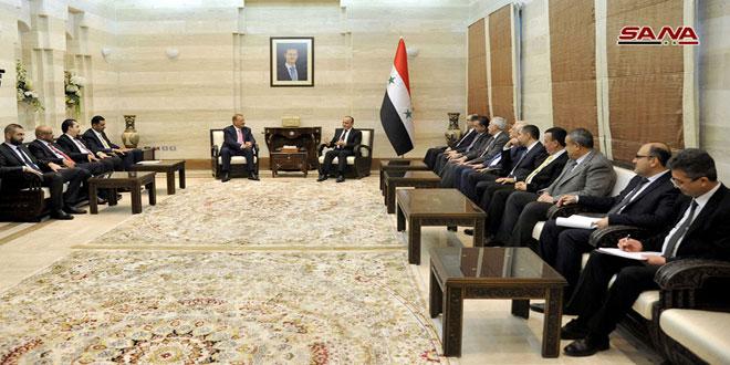 ראש הממשלה במהלך פגישתו עם משלחת פרלמנטרית ירדנית אמר: כי לצירים תפקיד חשוב בגלוי את המלחמה שלה נחשפה סוריה