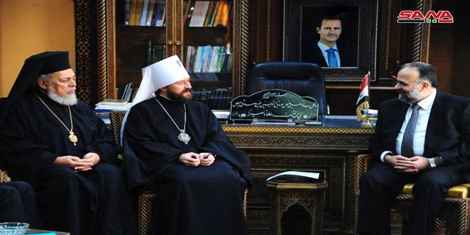 הארכיבישוף הילאריון: רוסיה מוכנה להגיש כל עזרה לשיקום בסוריה