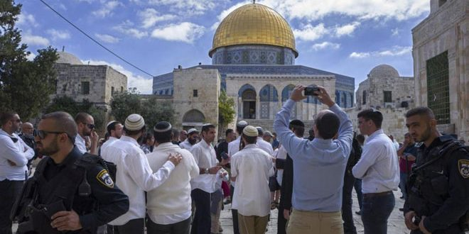 הכוחות הישראליים פרצו לתוך מסגד אל –אקצה ועצרו 4 פלסטינים