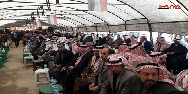 מאהל לאומי בקאמישלי כאות צידוד בסוריה ובצבא הסורי הלוחמים בטרור