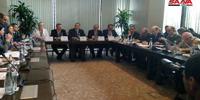 שיחות בנושא שיתוף הפעולה הכלכלי בין סוריה לריפובליקה קרים