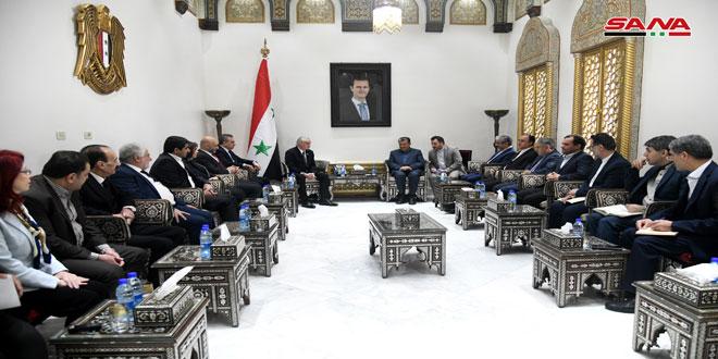 אנזור למשלחת קבוצת הידידות הפרלמנטית האיראנית-פלסטינית: תמיכת איראן בסוריה בכל המשורים היא חשובה
