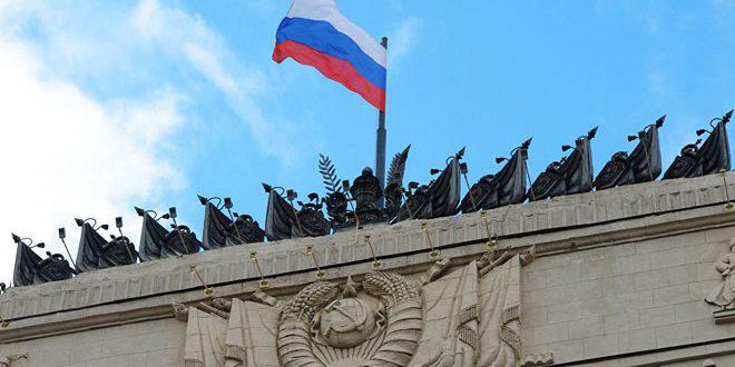 משרד ההגנה הרוסי: טענות משרד החוץ האמריקני בדבר הנשק הכימי באידלב מיועדות לחפות על הטרוריסטים