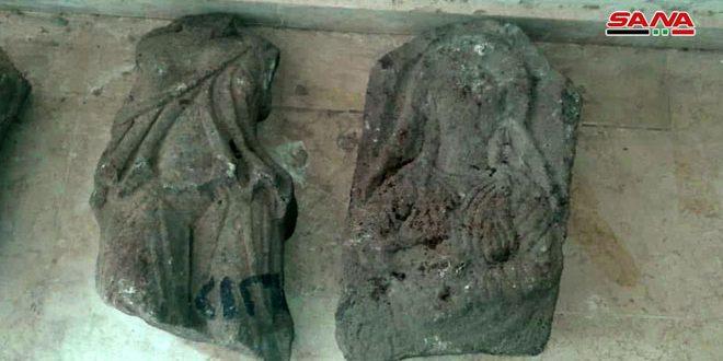 מחלקת העתיקות בדרעא קיבלה בחזרה שתי חתיכות ארכיאולוגיות שנגנבו ממוזיאון אל-קונייטרה