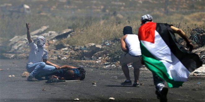 כמה פלסטינים נפצעו מירי הכוחות הישראליים במחנה הפליטים אלאמערי סמוך לראמללה