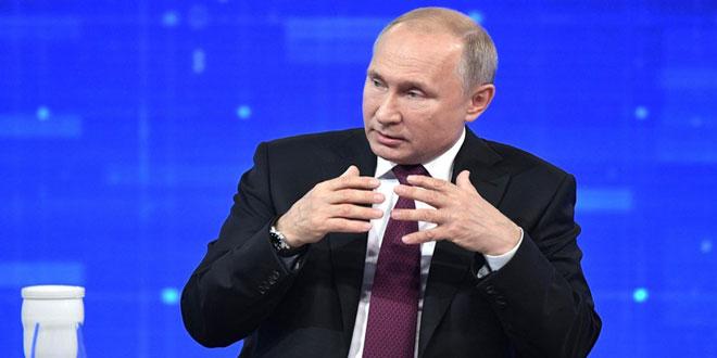 פוטין בנושא הסורי : ארצנו לא סוחרת בעקרונותיה ובבעלי בריתה