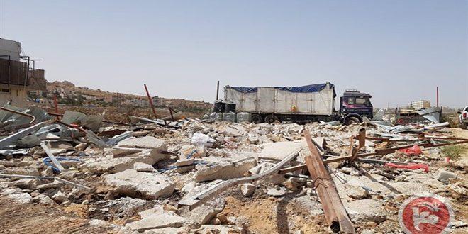 משרד החוץ הפלסטיני גינה את הריסת בתי הפלסטינים בשכונת ודי אלחמס על ידי כוחות הכיבוש