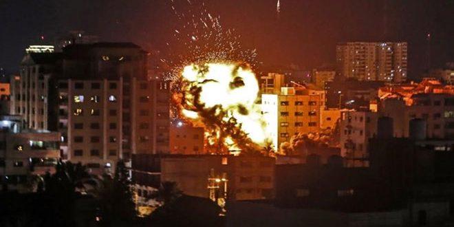 מטוסי המלחמה הישראליים חידשו את תוקפנותם על רצועת עזה