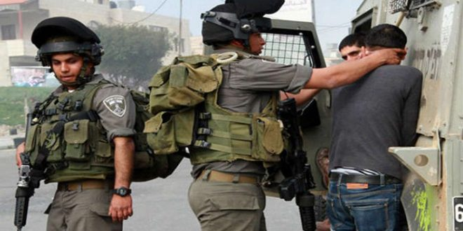 כוחות הכיבוש עצרו 5 פלסטינים בגדה המערבית