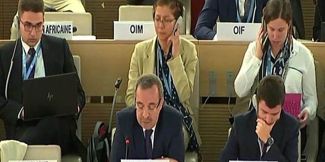 השגריר אלא ההפרות השיטתיות לזכויות האדם הן הסימן הבוליט למעשי כוחות הכיבוש הישראלי בפלסטין ובגולן