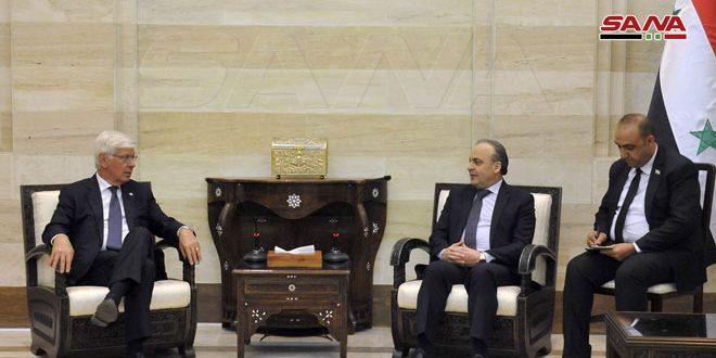 המהנדס ח'מיס למשלחת איטלקית: יש חשיבות לתפעול מנהיגי דעת הקהל האירופית כדי לשדר את האמת בקשר לארועים בסוריה