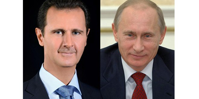 הנשיא מר בשאר אלאסד דן עם הנשיא פוטין על המצב בצפון סוריה