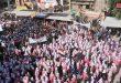 תושבי אל-מיאדין בפרבר דיר א-זור שבחו את ניצחונות הצבא הערבי הסורי וגנו את התוקפנות הטורקית