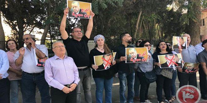 כוחות הכיבוש תקפו את הפלסטינים המשתתפים בעצרת מחאה על התוקפנות הטורקית על שטחי סוריה