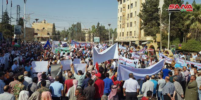 תושבי אל-חסקה, אל-קאמשלי ודיר א-זור מגנים את התוקפנות הטורקית ומדגישים כי הצבא הערבי הסורי הוא הערובה לבטחונה של המולדת