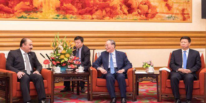 סגן הנשיא הסיני הדגיש את תמיכת ארצו בסוריה