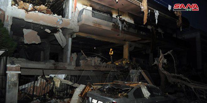 משרד החוץ הפלסטיני גינה את התוקפנות הישראלית נגד אזור מזה בדמשק ורצועת עזה