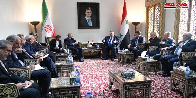 סבאע' במהלך פגישתו עם לאריג'אני הדגיש את עומק הברית האסטרטיגית הסורית-איראנית בעימות עם הטרור