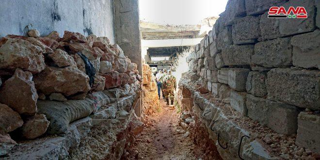 המצלמה של סאנא מלווה יחידות הצבא בסריקת מנהרות ובצורים לטרוריסטים באזור דהרת עבד רבו מערבית לחאלב
