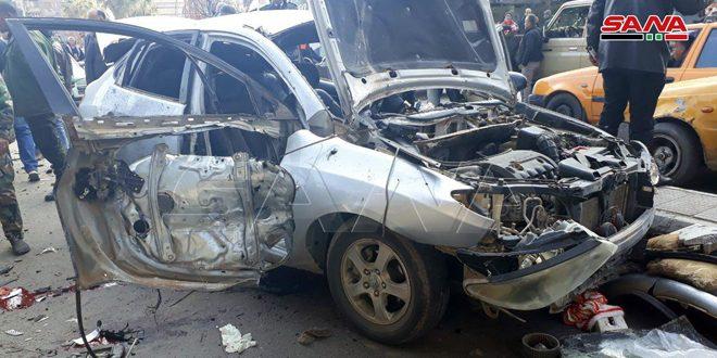 חמישה אזרחים נפצעו בהתפוצצות מטען במכונית באזור באב מסלה בדמשק