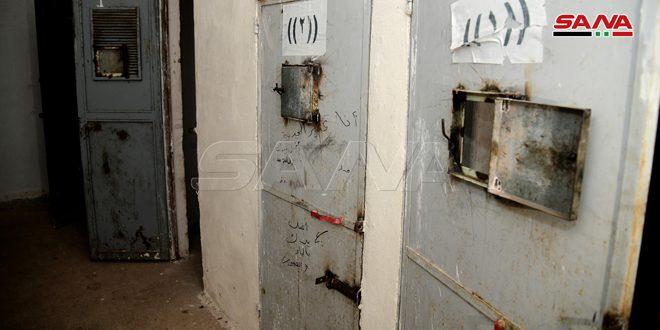 מרכזי מעצר ואמצעי לחימה שונים השאירו הטרוריסטים בכפרים ובעיירות באזור הכפרי הצפון-מערבי של חאלב