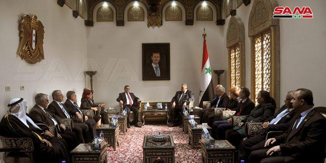 סבאע' דן עם שגריר ארמיניה בדמשק בקדום היחסים הפרלמנטריים