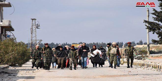 הצבא אבטיח יצאתן של כמה משפחות מאזורי פריסתם של הטרוריסטים דרך המעבר ההומניטרי מערבית למערת אל-נועמאן באידלב