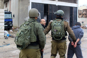 הכוחות הישראליים עצרו שני פלסטינים בעיר אלקודס