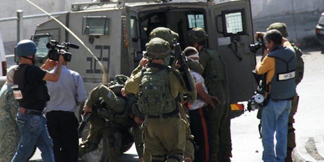 הכוחות הישראליים עצרו שני פלסטינים בעיר רמאללה