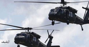 """בשיתוף פעולה עם מיליציה קס""""ד מסוקי הכיבוש האמריקאי מבצעים הצנחה בעיירה אלשחיל בפרבר דיר א-זור וחוטפים 3 אנשים"""