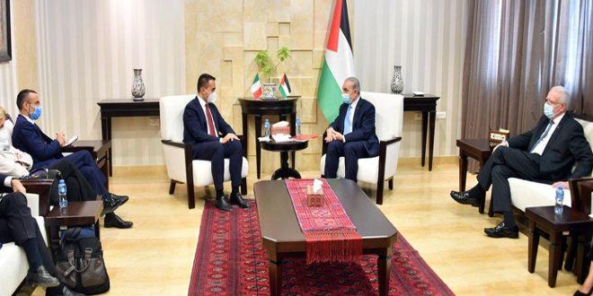 """ראש הממשלה הפלסטינית : התמיכה האמריקנית בתוכניות הישראליות הפרה לחוק הבינ""""ל"""