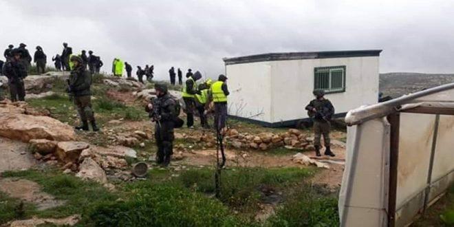 כוחות הכיבוש הישראלי גרפו שטחים פלסטיניים מערבית לסלפית