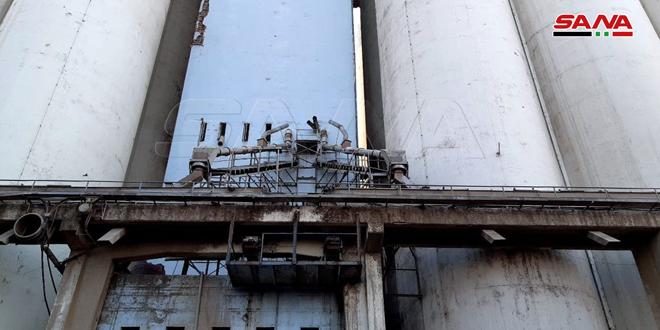 החברה הסורית ליבולים: מחסן היבולים בנמל טרטוס היה נתון לשריפה