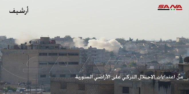 כוחות הכיבוש הטורקי ושכירי החרב שלהם הפגיזו סביבות העיירה עין עיסא בפרבר אל-רקה הצפוני