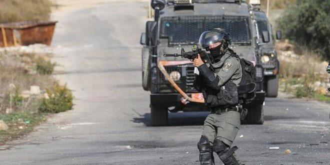 """פציעת פלסטיני ע""""י כוחות הכיבוש במערב רמאללה"""