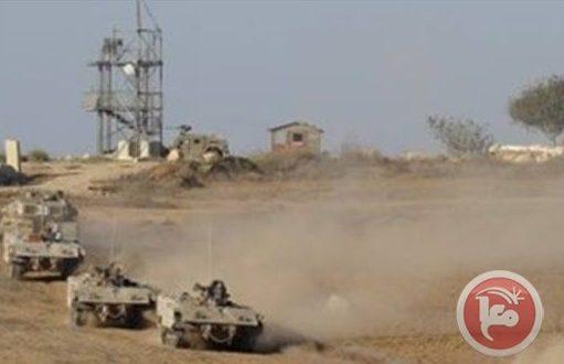 הכוחות הישראליים חדרו לדרום רצועת עזה וגרפו את השטחים הפלסטיניים