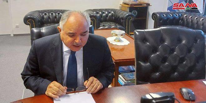 """השגריר ח'דור: התוקפנות הברברית המתמשכת של ישות הכיבוש הישראלית נגד העם הפלסטיני מהווה הפרה בוטה לחוק הבינ""""ל"""