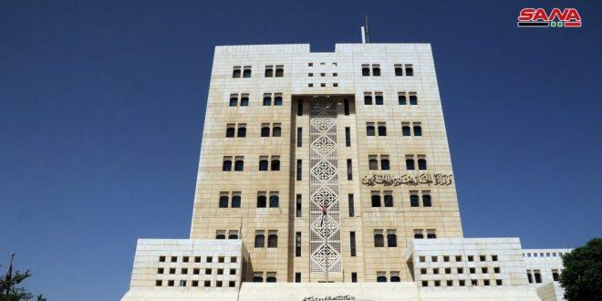 משרד החוץ : סוריה מגנה בחריפות את ההתנהגות הברברית של כוחות הכיבוש ועדרי מתנחליהם כלפי העם הפלסטיני