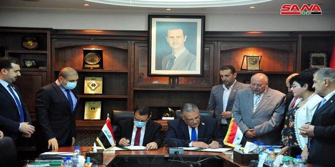 מזכר הבנה סורי-עיראקי לשתף פעולה בתחום החקלאות