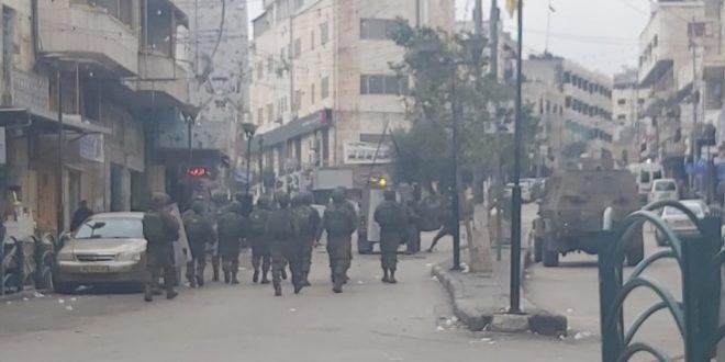 פציעתם של כמה פלסטינים במהלך דיכוי הפגנה המתנגדת להתנחלות דרומית לשכם