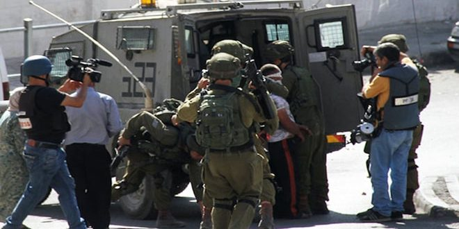 עצירתם של 6 פלסטינים על ידי כוחות הכיבוש ממזרח לשכם