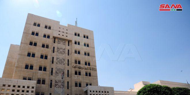 משרד החוץ והמהגרים: סוריה דוחה את הטענות השקריות שבאו בהודעת משרד החוץ הצרפתי בקשר למצב בסוריה