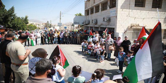 עצרת הזדהות בטובאס לתמיכה באסירים הפלסטינים בבתי המעצר
