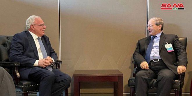 אלמקדאד דן עם שרי החוץ של פלסטין וארמיניה בחיזוק היחסים הדו צדדים