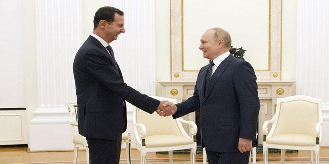 פסגת הנשיאים אל-אסד-פוטין כבשה מרחב גדול בתקשורת הרוסית