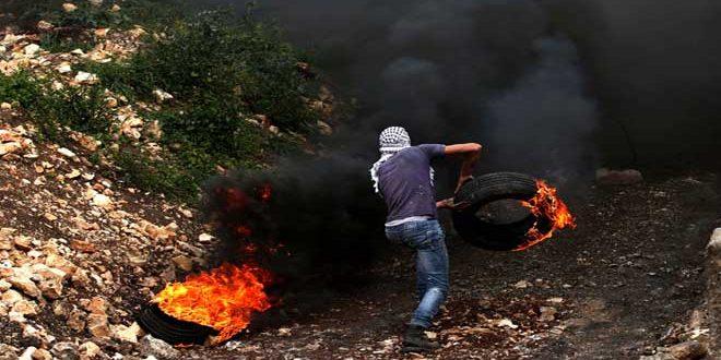 מספר פלסטינים נפגעו בהתקפתם על ידי כוחות הכיבוש בצפון-מערב אל-קודס הכבושה