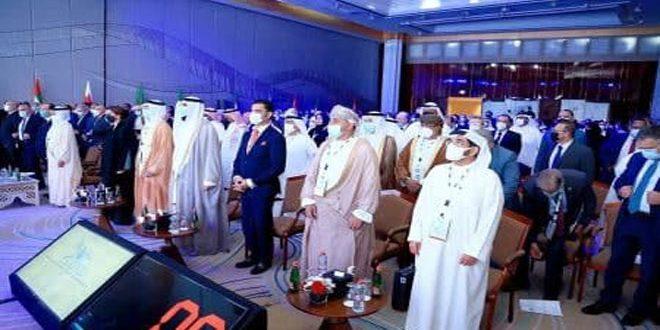 פתיחת פעילות המועדון הערבי החמישי למיים בדובאי בהשתתפות סוריה