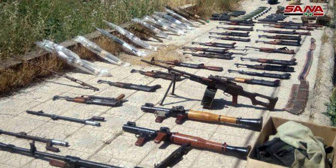 В провинции Дараа найдены оружие и боеприпасы террористов