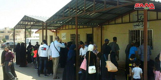 Десятки семей вернулись из Иордании и лагеря беженцев «Ар-Рукбан» в освобожденные от терроризма районы